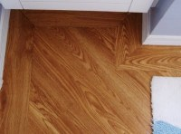 angled Laminate Flooring with border. Nice look for the ...