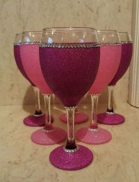 25+ best ideas about Decorated wine glasses on Pinterest ...