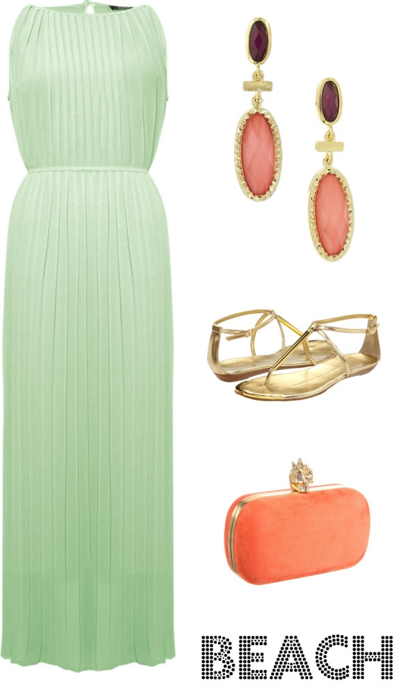 beach wedding guest love the dress and color combo  Wedding Attire for Family  Pinterest