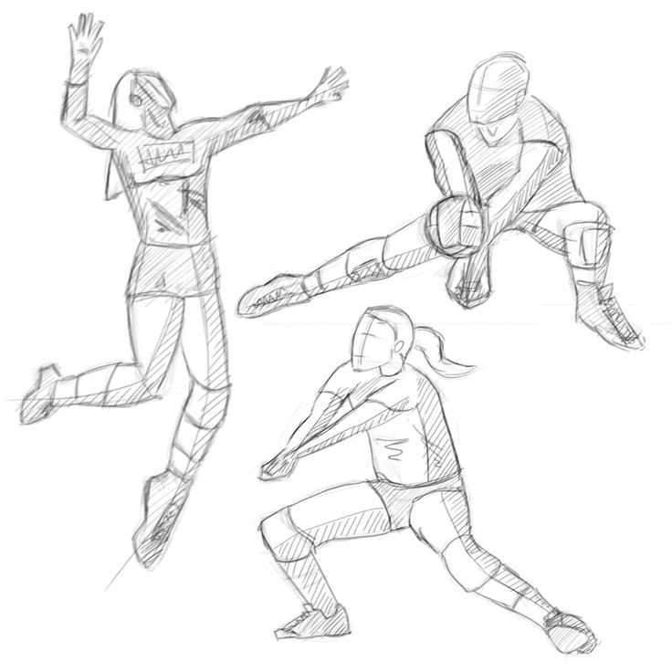 25+ best ideas about Volleyball drawing on Pinterest