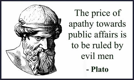 ''The price good men pay for indifference to public
