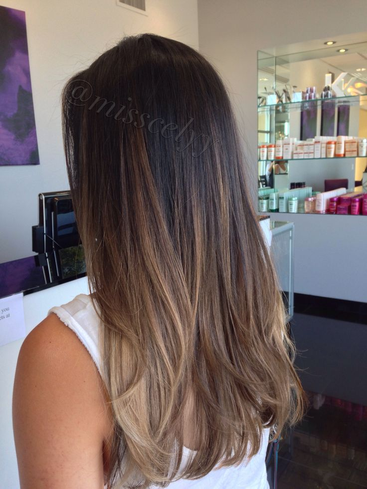 Balayage soft ombre, sombre, hair