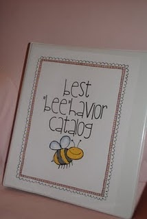 """""""bee""""havior catalog…includes incentives for students such as swap a desk with a friend, wear a hat to school, have lunch with a"""