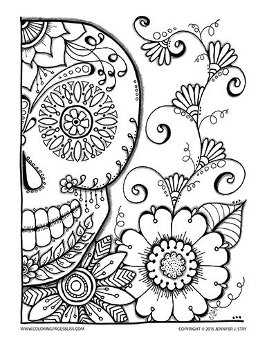 257 best images about Grown-Up Coloring Pages on Pinterest