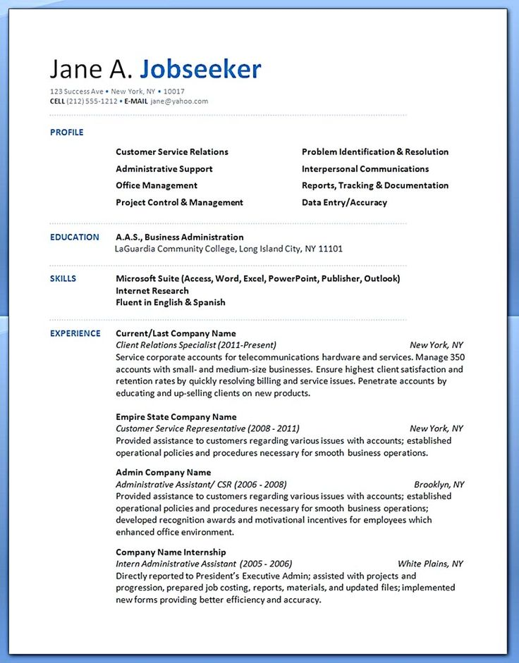Professional Background Resume Examples - Examples of Resumes
