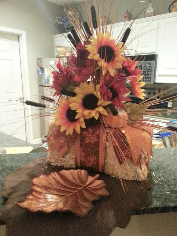 Hay Bale Centerpieces Mini Bale Hay W Ribbon And Fall