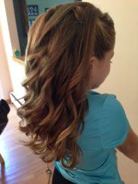 Half-up half-down curls/junior bridesmaid | HairStyles ...