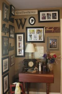 Corner wall decorating/ wall under stairs...I like the