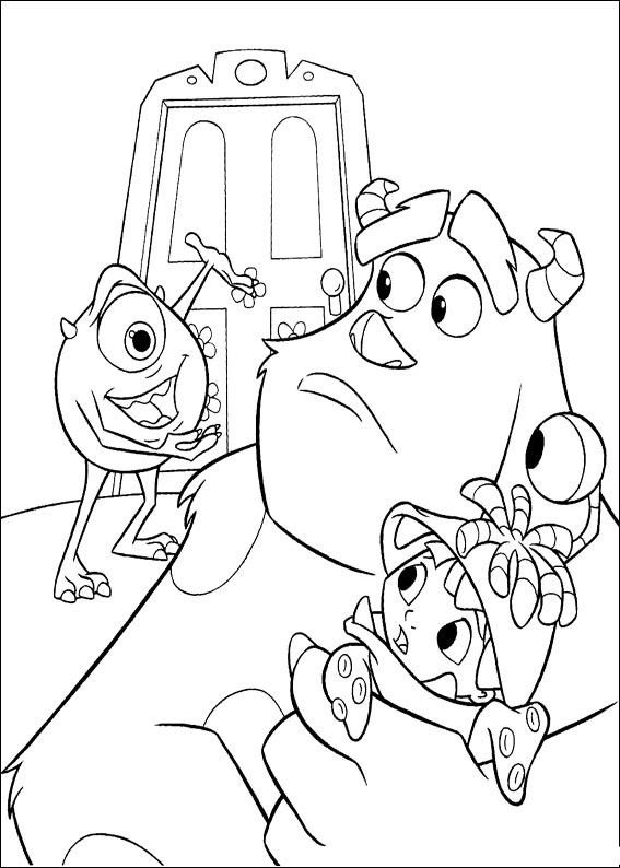 72 Monsters Inc Coloring Pages Disney
