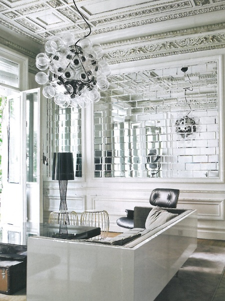 Beveled Mirrored Tiles from Perini  Fittings Im using