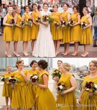 17 Best ideas about Mustard Bridesmaid Gowns on Pinterest ...