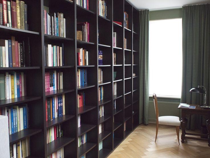 Ikea Hackers Floortoceiling Billy Bookshelves For