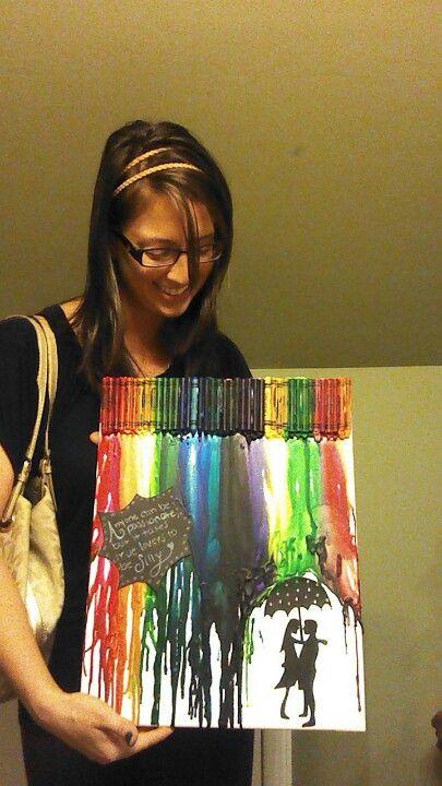 Birthday Present For My Best Friend! Crayon Art