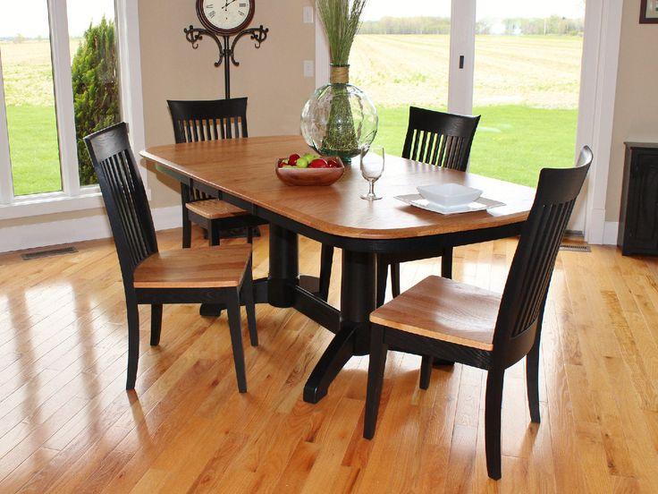 oak dining set 6 chairs hon invitation guest chair split rock amish table with 4 carlisle side at hom furniture | stores in ...