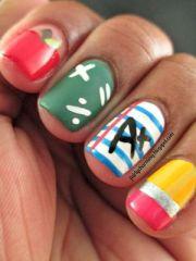 school nails. little flashy
