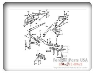 Ford 8N 03A01 Front Axle Related Parts 1939 52 9N 2N 8N | Ford Tractor | Pinterest | Ford