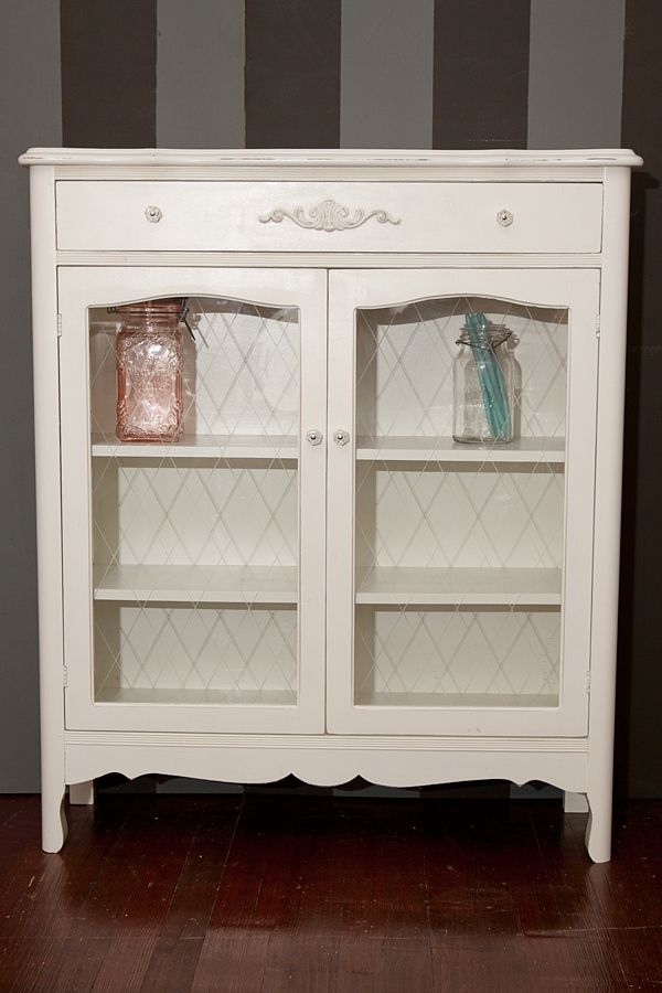 small french cabinet with glass doors