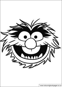 12 Muppet colouring pages including Kermit Miss Piggy and