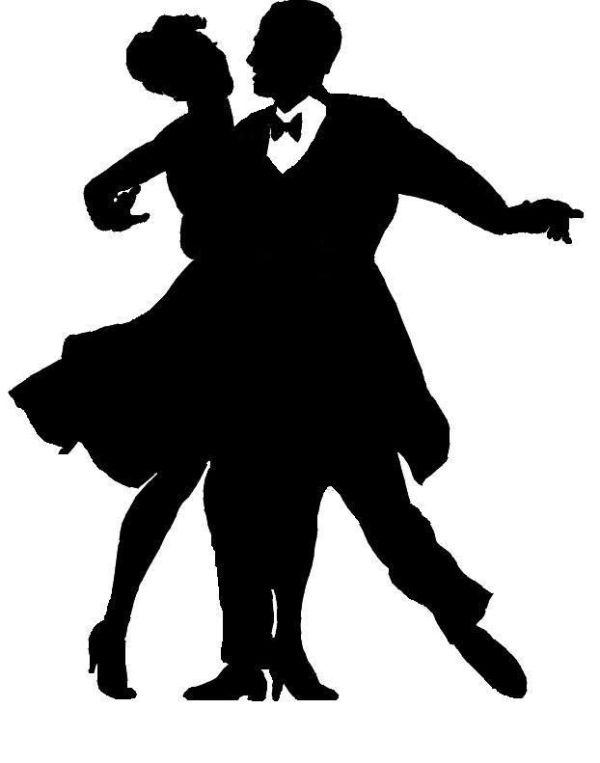 Dancer Silhouette Ballroom Dance Jpg Delicate Dancing