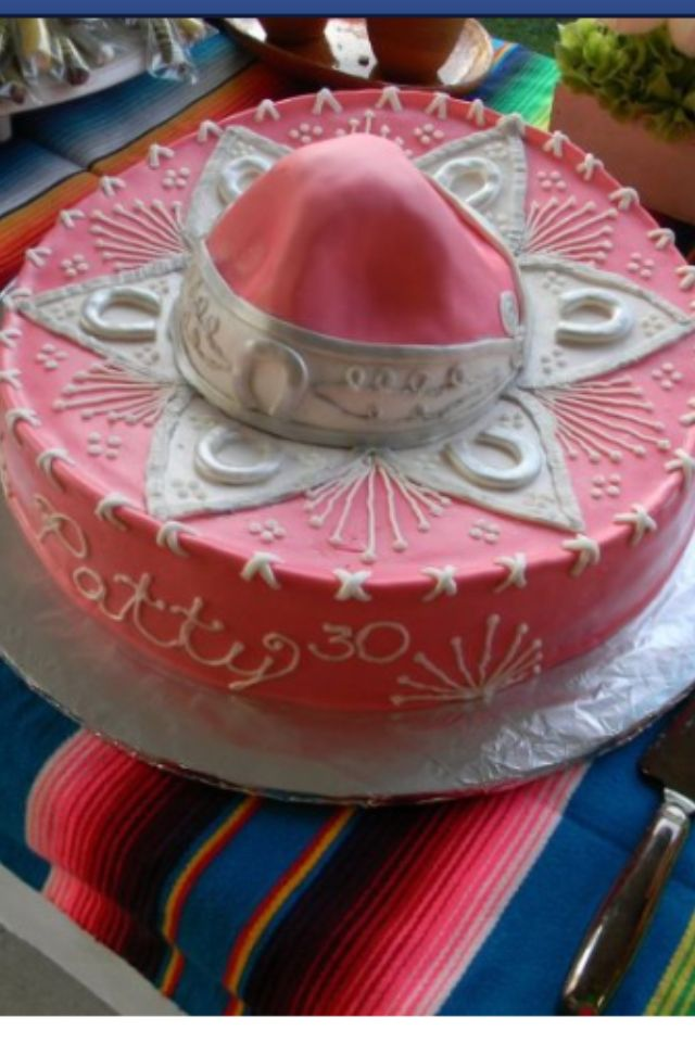 Sombrero cake  Frida party for Sophia  Pinterest  Hats Baptisms and Sombreros
