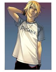 blonde anime boy