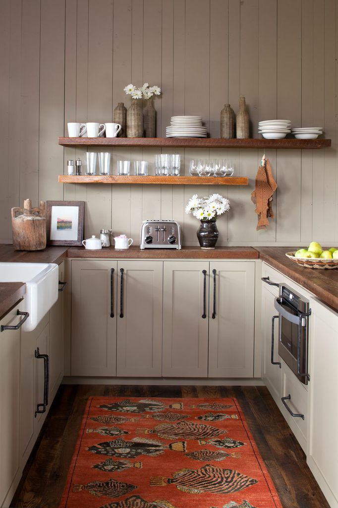 farmhouse kitchen cabinets cabinet lock carter kay interiors ennis montana bunkhouse 8   ...