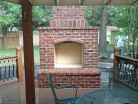 Flagstone patios, masonry outdoor fireplaces, outdoor