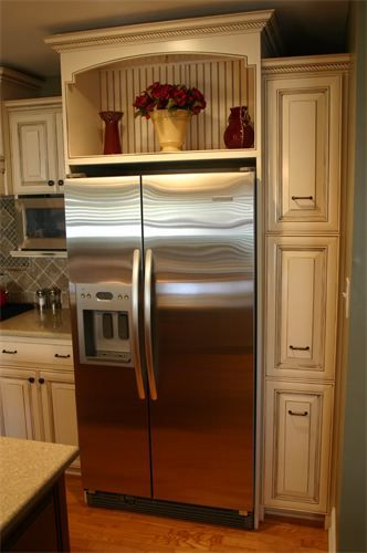 wooden kitchen plate rack cabinet black distressed cabinets best 25+ refrigerator ideas on pinterest