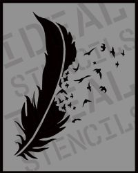 1000+ ideas about Stencil Wall Art on Pinterest | Feather ...