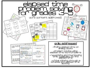 17 Best images about Math Elapsed Time on Pinterest