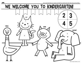 Welcome To Kindergarten & First Grade {Color Page} for