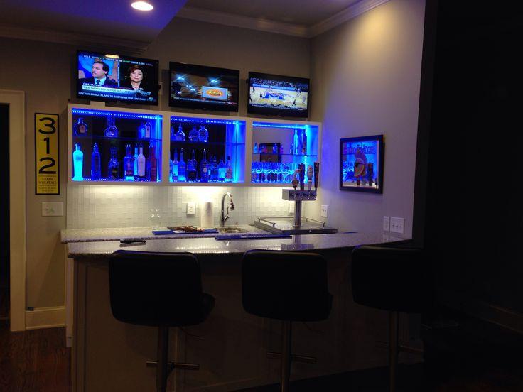 Contemporary Home Bar  DIY home decor  Pinterest  Home