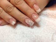 clear glitter gel nails nail