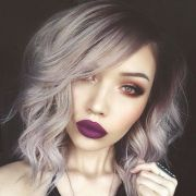 alternative hair ideas purple-brown