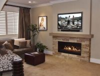 17 Best ideas about Tv Above Mantle on Pinterest