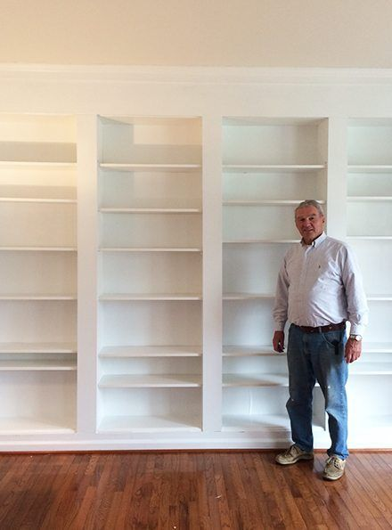 Billy Bookcase Hack With Library Ladder Built Ins