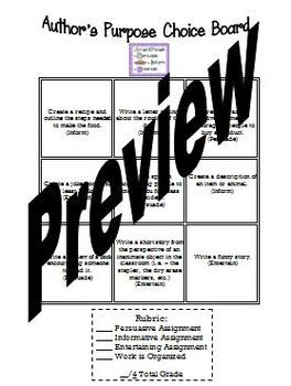 17 Best images about ELA-Choice boards on Pinterest