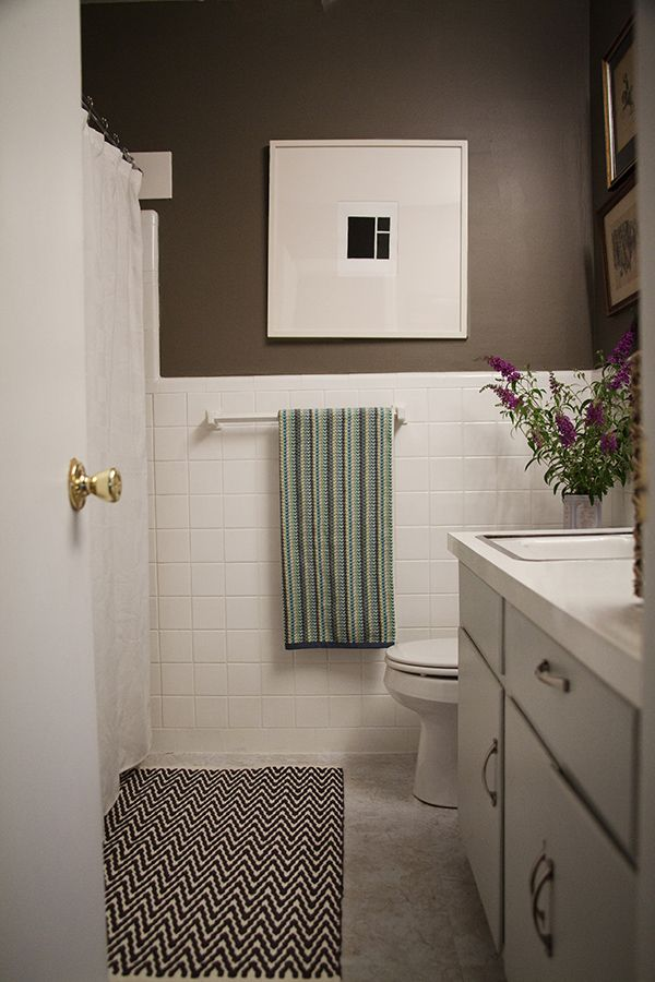 A Simple Inexpensive Bathroom Makeover For Renters