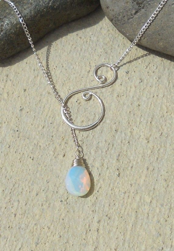 lariat necklace. Absolutely in love with this design. So simple & elegant. I WILL keep trying until I get it right!!!