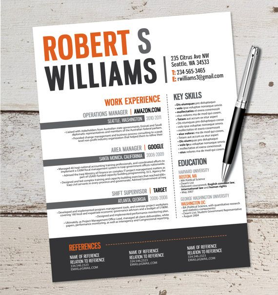 233 Best Images About Resume & CV Ideas On Pinterest