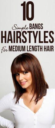 pinkfashion 10 simple bangs hairstyles