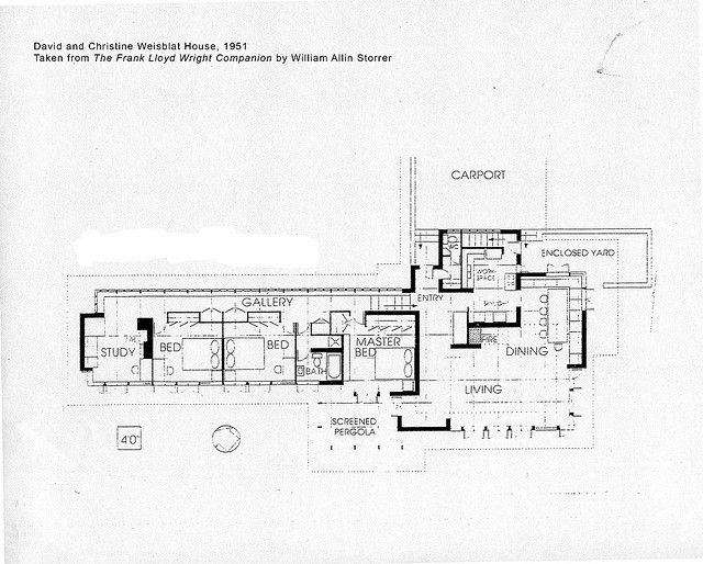 David and Christine Weisblat House Plan (1951), Frank