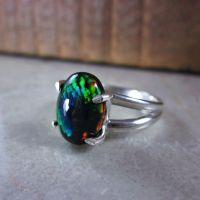 17 Best ideas about Black Opal Ring on Pinterest   Black ...