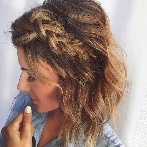 25 Best Ideas About Braids Medium Hair On Pinterest Braids For