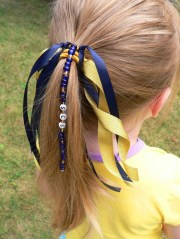 personalized ponytail holder ribbon