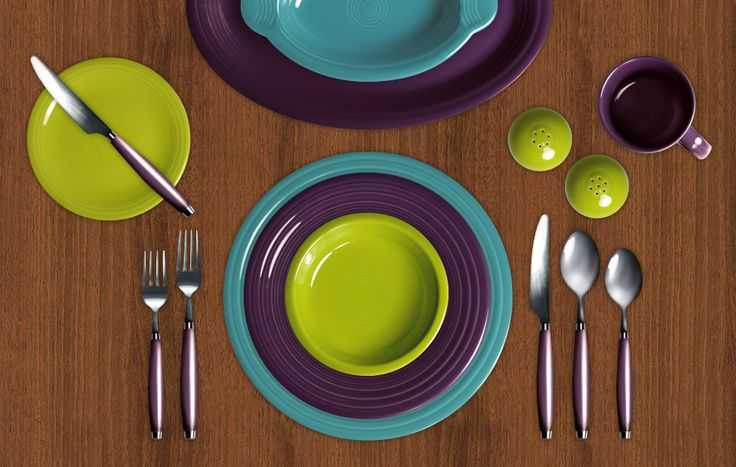 orange kitchen rug aid grinder turquoise, plum, and lemongrass fiestaware | fiesta ...