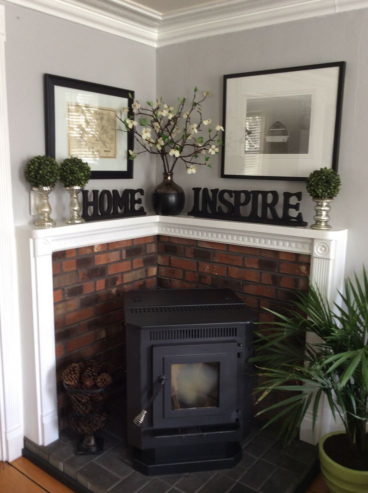 17 Best ideas about Wood Stove Wall on Pinterest