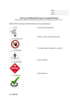 17 Best ideas about Lab Safety Activities on Pinterest