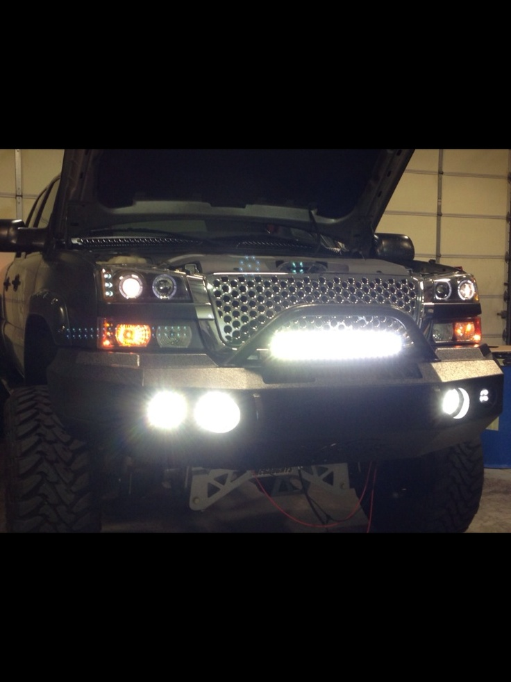 2004 Silverado  Black Mamba New LED lights added dual