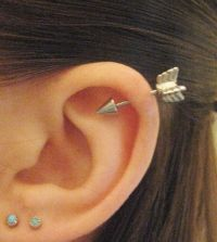 Arrow cartilage earring. | Industrial Barbells & cartilage ...